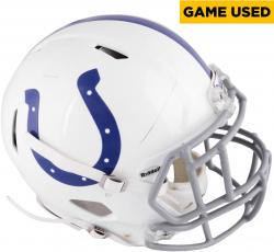 WERNER, BJOERN (COLTS) 2013 GAME USED HELMET - Mounted Memories