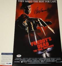 Wes Craven 'a Nightmare On Elm Street' Signed 11x17 Movie Poster Psa/dna Y58343
