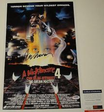 Wes Craven 'a Nightmare On Elm Street' Signed 11x17 Movie Poster Psa/dna Y58345