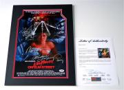 Wes Craven Englund & Langenkamp Signed Nightmare On Elm Street Poster Psa V04432