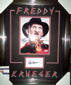 Wes Craven & Robert Englund Freddy K Dual Signed Photo Matted Framed Jsa Psa D