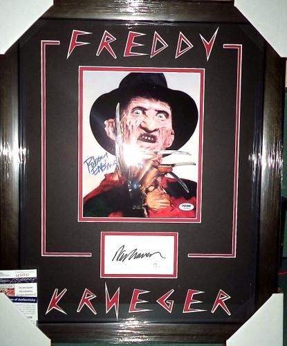 Wes Craven & Robert Englund Freddy K Dual Signed Photo Matted Framed Jsa Psa D