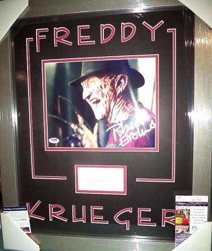 Wes Craven & Robert Englund Freddy K Dual Signed Photo Matted Framed Jsa Psa G