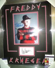 Wes Craven Robert Englund Freddy K Signed Auto Double Matted & Framed Jsa Coa I