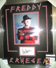 Wes Craven Robert Englund Freddy K Signed Auto Double Matted & Framed Jsa Coa I