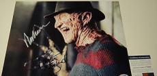 Wes Craven Robert Englund Nightmare On Elm Signed 11x14 Photo Psa/dna Coa V73904