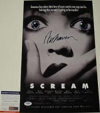 Wes Craven 'scream' Signed 11x17 Movie Poster Psa/dna Coa Y58344