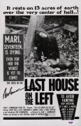 Wes Craven Signed The Last House On The Left 11x17 Movie Poster Psa Coa Ad48200