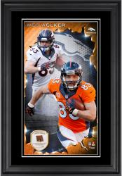 Wes Welker Denver Broncos 10'' x 18'' Vertical Framed Photograph with Piece of Game-Used Football - Limited Edition of 250