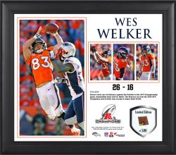 Wes Welker Denver Broncos 2013 AFC Champions Framed 15'' x 17'' Collage-Limited Edition of 500 - Mounted Memories