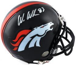 Wes Welker Denver Broncos Autographed Riddell Mini Helmet