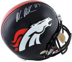 Wes Welker Denver Broncos Autographed Riddell Replica Helmet