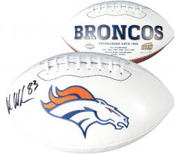 Wes Welker Denver Broncos Autographed White Panel Football