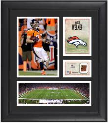 Wes Welker Denver Broncos Framed 15'' x 17'' Collage with Game-Used Football - Mounted Memories