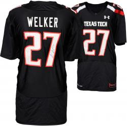 Wes Welker Texas Tech Red Raiders Autographed Black Jersey