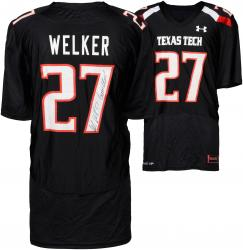 Wes Welker Texas Tech Red Raiders Autographed Black Jersey with Guns Up! Inscription