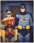 "Adam West & Burt Ward Dual Autographed 16"" x 20"" Robin Hand Close Photograph"