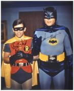 "Adam West & Burt Ward Dual Autographed 16"" x 20"" Robin Hand Close Photograph"