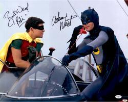 Adam West & Burt Ward Autographed 16'' x 20'' Batman and Robin Photograph