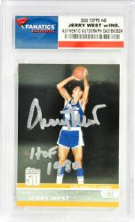 Jerry West Los Angeles Lakers Autographed 2008 Topps #48 Card with HOF 1980 Inscription