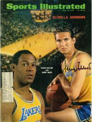 Jerry West Los Angeles Lakers Autographed Boston/L.A. Showdown Sports Illustrated