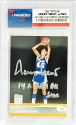 Jerry West Los Angeles Lakers Autographed 2008 Topps #48 Card with 14 X NBA All Star Inscription