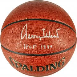 Jerry West Los Angeles Lakers Autographed Spalding Indoor Outdoor Basketball - Mounted Memories
