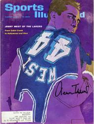 Jerry West Los Angeles Lakers Autographed Jerry West of the Lakers Sports Illustrated