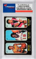 Willis Reed, Jerry West, & Chet Walker 1971-72 Topps Trio Stickers #31-33 Card