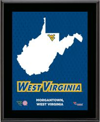 "West Virginia Mountaineers Sublimated 10.5"" x 13"" State Plaque"