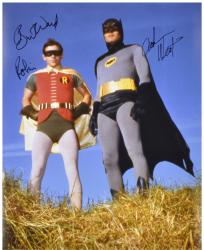 "Adam West & Burt Ward Dual Autographed 16"" x 20"" Outside In Grass Photograph"