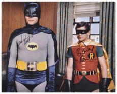 "Adam West & Burt Ward Dual Autographed 16"" x 20"" Window in Background Photograph"