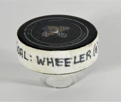 Blake Wheeler Winnipeg Jets 3/8/13 Game-Used Goal Puck at Florida Panthers - Mounted Memories