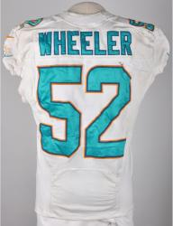 Philip Wheeler Miami Dolphins 10/6/13 Game-Used White #52 Jersey - Mounted Memories