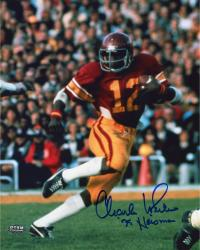 Fanatics Authentic Autographed Charles White USC Trojans 8'' x 10'' Running Ball Photograph with 75 Heisman Inscription