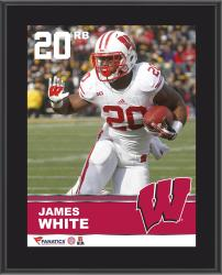 "James White Wisconsin Badgers Sublimated 10.5"" x 13"" Plaque"