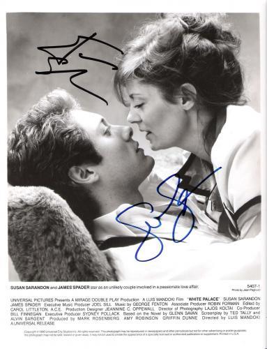 "'WHITE PALACE"" Signed by SUSAN SARANDON as NORA BAKER and JAMES SPADER as MAX BARON 8x10 B/W Photo"