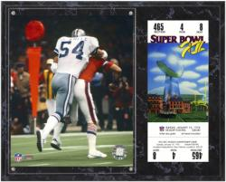 "Randy White Dallas Cowboys Super Bowl XII Sublimated 12"" x 15"" Plaque with Replica Ticket - Mounted Memories"