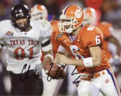 Charlie Whitehurst Clemson Tigers Autographed 8'' x 10'' vs. Texas Tech Photograph