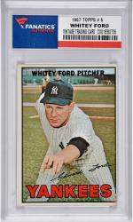 Whitey Ford New York Yankees 1967 Topps #5 Card 2