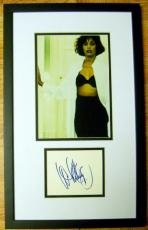 Whitney Houston autograph with photo framed matted (Grammy winning Singer The Bodyguard)