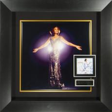 Whitney Houston Autographed CD Cover Framed Display