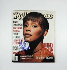 Whitney Houston Rolling Stone Autographed Signed Magazine Certified JSA AFTAL