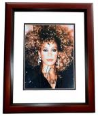 Whitney Houston Signed - Autographed Singer - Actress 8x10 inch Photo - MAHOGANY CUSTOM FRAME - Deceased 2012 - Guaranteed to pass PSA/DNA or JSA