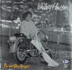 Whitney Houston Signed I'm Your Baby Tonight Album Cover W/ Vinyl BAS #A85707