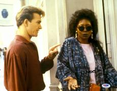 """Whoopi Goldberg Autographed 11"""" x 14"""" with Patrick Swayze Photograph - PSA/DNA"""