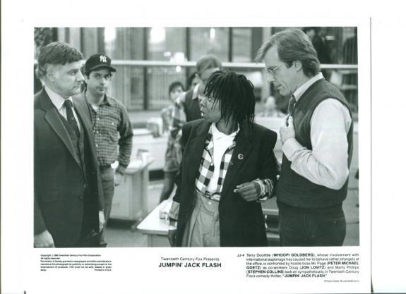 Whoopi Goldberg Stephen Collins Jon Lovitz Peter Goetz Jumpin' Jack Flash Photo