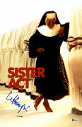 "Whoopie Goldberg Autographed 12"" x 18"" Sister Act Movie Poster - Beckett COA"
