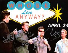 """WHOSE LINE IS IT ANYWAY"""" Signed by STILES, PROOPS, ESTEN and DAVIS - 11.5x8 Color Photo"""