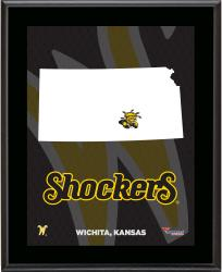 "Wichita State Shockers Sublimated 10.5"" x 13"" State Plaque"